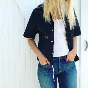 Stussy Black short sleeve rain jacket size small